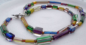 Color Glass Necklace