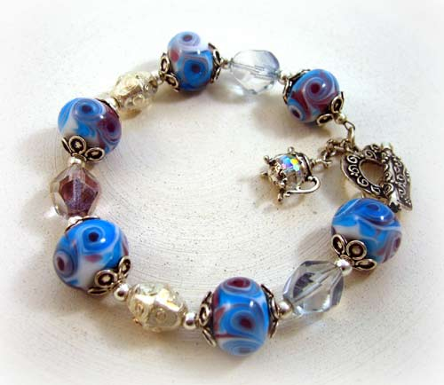 Crystal Tea Glass Bracelet