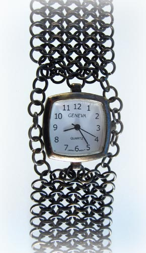 Gunmetal Chainmaille Watch