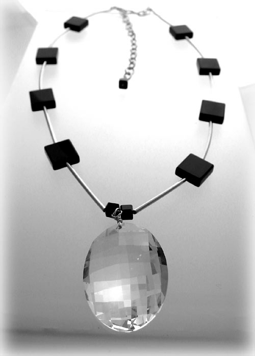 Classic Onyx Sparkle Necklace